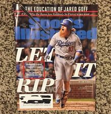 Sports Illustrated October 2017 Los Angeles Dodgers Justin Turner Jared Goff NFL