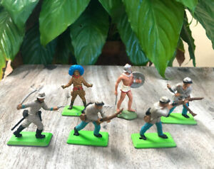 Britains Deetail toy soldiers Confederate Infantry, Roman Soldier & Mexican