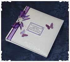 Personalised White Loving Memory  Remembrance Book Funeral | Cellini Albums #1