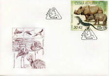 Czech Republic 2017 FDC Zoos II Plzen Zoo Rhinos Lizards 1v Set Cover IV Stamps