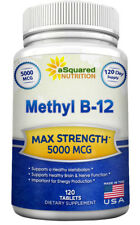 aSquared Nutrition Vitamin B12 - 5000 MCG w/ Methylcobalamin (Methyl B-12)