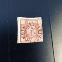 """Bayern 6 Kreuzer braun Mi.-Nr. 4 II2 /gMR """"349"""" Tittmoning/Neustadt a. d. H."""