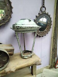 Large Antique Copper Lantern For Restoration.  Vintage Street Light