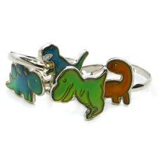 Cute Kids Adjustable Dinosaur Design Mood Ring Party Bag Fillers Favour Gift Zoo