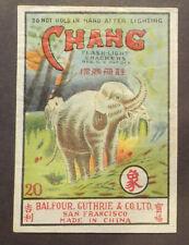 * Chang Firecracker Pack Label - Vintage Fireworks Labels