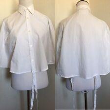 Rare Vtg Maison Martin Margiela Artisanal Line 0 White Shirt Cape