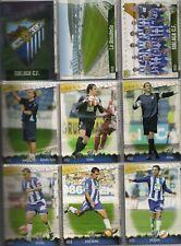 27 fichas del Málaga Mundicromo Fichas de la liga 2008-2009