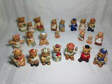 Homco Bears Various Collectible Ceramic Bears Lot Of All 22 Bears Euc