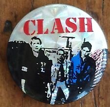 Vintage 80's THE CLASH pinback prismatic button pin badge punk Band Joe Strummer