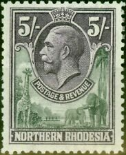 Northern Rhodesia 1925 5s Slate-Grey & Violet SG14 Fine Lightly Mtd Mint