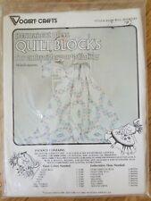 "Vogart Quilt Blocks Embroidery Painting Ring Bouquet 18"" Squares Paint Stitch"