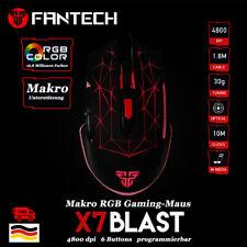 FANTECH Gaming Maus X7 Blast 4800 dpi LED beleuchtet 6 Tasten Macrofähig schwarz
