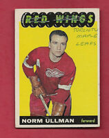 1965-66 TOPPS # 49 RED WINGS NORM ULLMAN  CARD