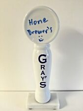 Gray's Ceramic Tap Handle Dry Erase Erasable Home Brewers~ NEW & F/S ~ 10.75""