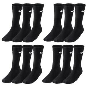 12er Pack NIKE Value Crew Sportsocken Tennissocken schwarz SX4508 Gr. XL (46-50)