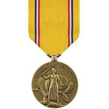 WW2 US American Defense Medal World War 2 Yellow Bronze Full Size Medal