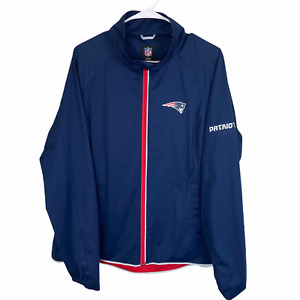 New England Patriots NFL Full Zip Jacket Women's 2XL XXL Navy Blue Red Team