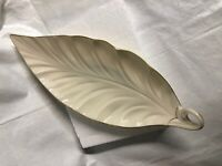 vintage Lenox gold trimmed serving platter shaped leaf