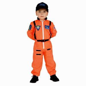 NASA Jr. Astronaut Suit Costume Orange Toddler Child Space Moon  4-6 (S)