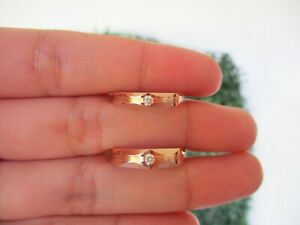 .094 CTW Diamond Wedding Ring 18K Rose Gold WR185 sep (PRE ORDER)