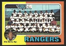 1975 TOPPS LARGE #511  TEXAS RANGERS Team Card  ( Unmarked Boxes )  NM  B