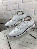 Cole Haan Zerogrand GrandOS Women's White Wingtip Oxford Shoe Size 9.5 B