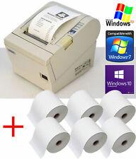 USB + SERIEL BONDRUCKER EPSON TM-T88III INKL. POWERSUPPLY +CABLES +6x BONRL 88-4
