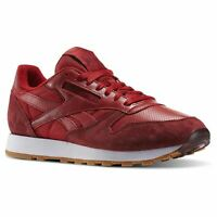 2695fc91196 Reebok Classic Leather Perfect Split Trainers Mens Red Footwear Shoes  Sneakers
