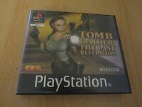 TOMB RAIDER LAST REVELATION - Playstation 1 PS1 - BLOCKBUSTER EX RENTAL - PAL