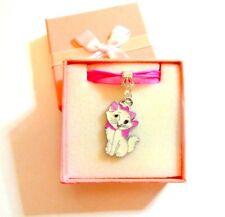 Disney's AristoCat Marie Kawaii Cute Pendant on Organza & Cord Necklace in Box