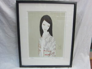 Japanese woodblock print Kimono Takasawa Keiichi print lithograph Ukiyo-e Ukiyoe