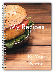 A5 PERSONALISED RECIPE PLANNER, WRITE YOUR OWN RECIPES,HEALTHY RECIPE BOOK,07