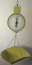 Vintage Metal American Family Hanging Scale Butterscotch Yellow 60 lbs