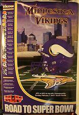 "Road Super Bowl XLIV Minnesota Vikings Helmet 36 x 24"" Poster Schedule 2009 New"