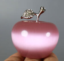 Beautiful Natural Cat's Eye Crystal Apple Figurine Decoration Crystal Gift