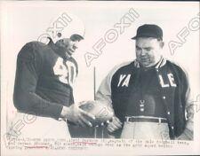 Yale Bulldogs Football Captain Levi Jackson & Coach Hickman Press Photo