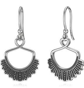 RBG Dissent Collar Earrings for Women 925 Sterling Silver 10K 14K Dangle Drop...