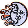 Embroidered Half Moon Sun Iron On Patch Sew On Badge Clothes Embroidery Applique