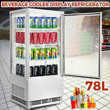 2.75cu.ft Commercial Display Cabinet Refrigerator 180W Double Tempered Glass
