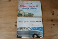 Car sales brochures MORRIS OXFORD and ISIS  saloon cars foldouts minor related