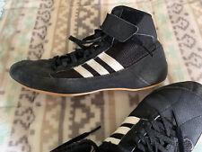 Men's Black Leather Adidas Wrestling Shoes – Size 8