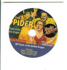 The Spider #64, Claws of The Dragon, Otr radio Cd with 3 chapters of Spider pulp