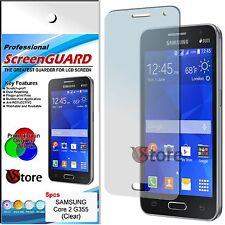 """5 Pellicole Per Samsung Galaxy Core 2 G355 Proteggi Salva Schermo Display 4,5"""""""