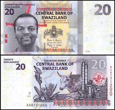 Swaziland 20 Emalangeni, 2014, P-37b, UNC