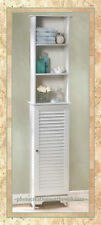 NEW WHITE WOOD STORAGE,BATHROOM,LINEN CABINET,BOOKCASE,DECOR FURNITURE Reg.$210.