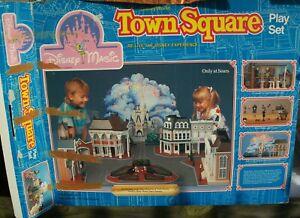 Vintage 1988 Walt Disney World Main Street Town Square Play Set Sealed Pcs SEARS