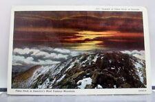 Colorado CO Pikes Peak Summit Sunrise Postcard Old Vintage Card View Standard PC