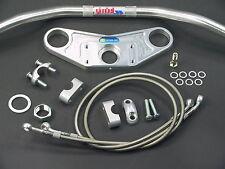 ABM Superbike Lenker Umbau  für HONDA CBR 1000-F (SC21 + SC24) silber eloxiert