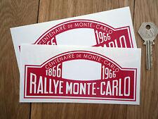 Rallye Montecarlo 1866-1966 Centenario adhesivos para coches de 150 mm Par Rally Plato Rojo