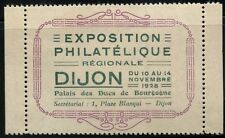 FRANCE VIGNETTE LABEL CINDERELLA RARE EXPOSITION PHILATIQUE DIJON 1928